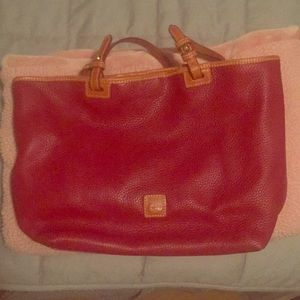 Dooney & Bourke Red Pebbled Leather Purse